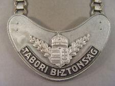 """91720, Ringkragen für die ungarische Feldgendarmerie """"Tabori Biztonsag"""", Alu"""