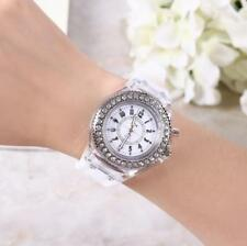 Luminous luminous male and female students couple jelly quartz watch~###