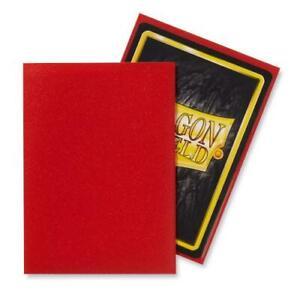 Dragon Shield Matte Standard Size Acid Free Trading Card Sleeves 100pk Crimson