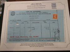 1947 City of Liverpool Electricity/Receipt Mrs Leah Eslick, Daisy Mount, Maghull