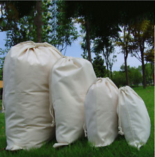 Cotton Plain Canvas Drawstring Bags - Xmas Sack / Storage / Laundry Bag HOT