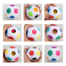 Cube Puzzle Twist Toy Magic Creative Ball Shaped Rainbow and White Spherical