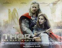 Thor Die Dunkel World Plakat Zweiseitig Regulär Quad Original Filmposter