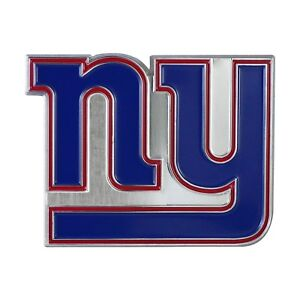 Fanmats NFL New York Giants Diecast 3D Color Emblem Car Truck RV 2-4 Day Del.