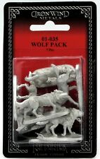 Ral Partha 01-035 Wolf Pack (Set of 7 Miniatures) Wolves Wild Animals Wildlife