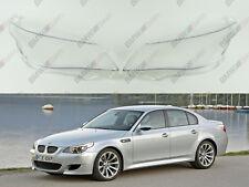 BMW 5 E60 / E61 OEM Headlight Glass Headlamp Lens Plastic Cover (PAIR)