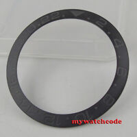 brushed black ceramic bezel insert for 40mm GMT watch made by bliger factory B18