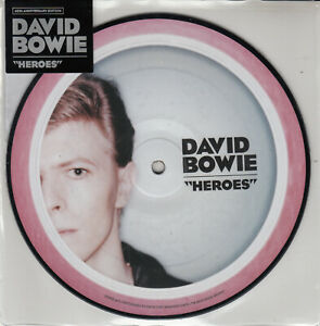 """DAVID BOWIE HEROES  7"""" PICTURE DISC"""
