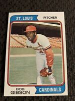1974 Topps Bob Gibson #350 Vintage Baseball Card  Cardinals Centered Nicely