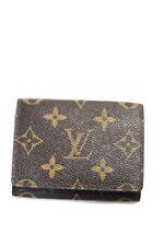 Louis Vuitton Mens Leather Monogram Card Case Wallet
