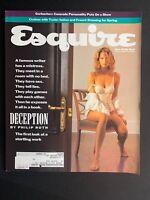 ESQUIRE Magazine, February, 1990, DECEPTION BY PHILIP ROTH, GORBACHEV, FASHION!