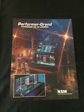 NSM Performer-Grand Hyperbeam 100 CD Jukebox Machine Flyer, NOS