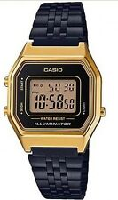 Casio Vintage Watch * LA680WEGB-1A Gold & Black Steel Classic COD PayPal