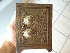Vintage Salesman Sample Keyless Safety Deposit Box The Keyless Lock Co. Bank