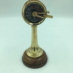 "Brass Ship's Engine Order Mini Telegraph 6.5"" Nautical Decorative Reproduction"
