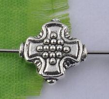 10Pcs Tibetan silver cross-shaped spacer Beads 12MM DIY Findings