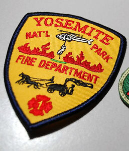 Feu Fighter Épaule Manche Insignes Ssi : Yosemite Natil Park Fire Department