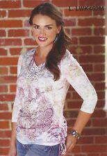 Wrangler Womens Rhinestone WESTERN Shirt - 3/4 Sleeve - XL - LWK462M
