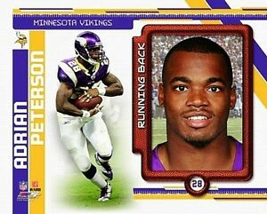 """ADRIAN PETERSON """"Minnesota Vikings"""" LICENSED picture poster 8x10 photo"""