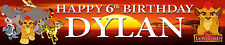 2 x Lion Guard Personalised Birthday Banners