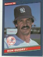 FREE SHIPPING-MINT TO NRMINT-1986 (YANKEES) Donruss #103 Ron Guidry+BONUS CARDS