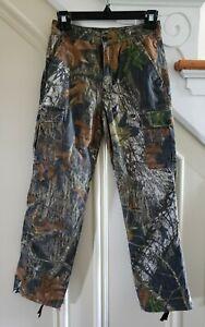 RedHead Boys Silent Hide Hunting Cargo Pants Mossy Oak Break Up Camouflage Sz L