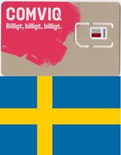 Comviq, Swedish PREPAID SIM. NANO, MICRO or STD. SWEDEN,. No credit.