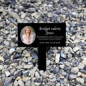 Personalised Memorial Grave Marker, Your Photo, Headstone, Plaque, Acrylic