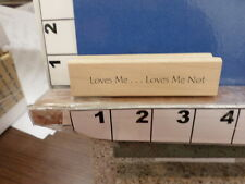 loves me loves me not saying NEW rubber stamp 34p