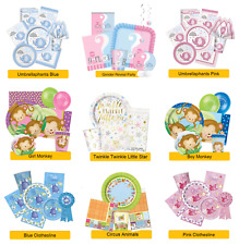 BABY SHOWER PARTY RANGES - New Baby Tableware Balloons Banners & Decorations
