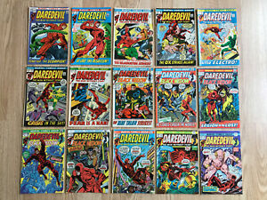 Daredevil Bronze Age LOT of 15 comics from #82 to #119 Black Widow co-star