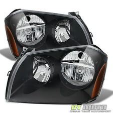 Black 05-07 Dodge Magnum Headlights Lamps Pair Left+Right 2005-2007 headlamps