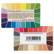 "Farbpass Frühling-Winter ""Loop"" - Plastikkarte mit 44 Farben"