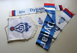 DYNAMO MOSCOW Complete set of Flags Pennants and Scarfs Russia BASKETBALL