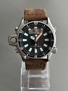 Citizen JP2000 C520 Promaster Aqualand Men's Diver With Manual And Hirsch Strap