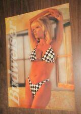 1998 Budweiser sexy bikini pin up poster