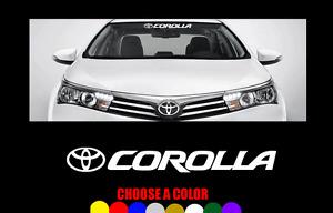 "COROLLA Windshield 23"" Banner Decal Vinyl Sticker TOYOTA logo TRD"