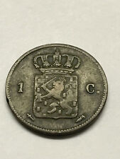 1864 Netherlands 1 Cent Fine+ #7085