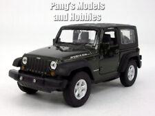 4.25 Inch Jeep Wrangler Rubicon Hard Top 1/32 Scale Diecast Model - Green