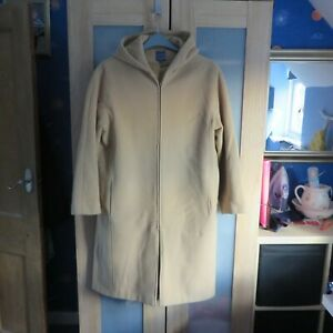 Outer Layer Camel/Beige Hooded Wool Coat Size 16