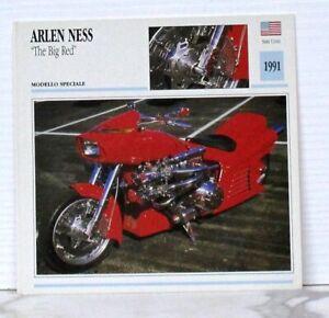 """Arlen ness """"the big red"""" modello speciale stati uniti 1991 de agostini 03-05"""
