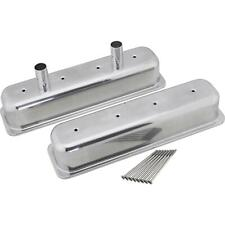Sb Chevy Tall Aluminum Centerbolt Valve Covers Withbolts Polished