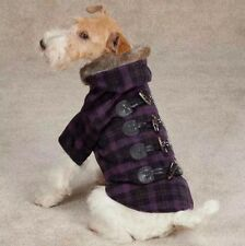 New Zack & Zoey Fur Tipped Toggle Pet Coat - X-Small , Pink , Dog Clothes