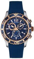 NAUTICA Men's Chronograph Blue Dial Blue Silicone Strap NAD16502G