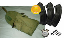Dated Original USSR Soviet Russian 3 Cells Ammo Pouch AK47 Ammunition Bag