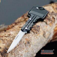 """4.9"""" Pocket Knife Key Charm Pendant Self-Defense BLACK Mini Folding Razor BLADE"""