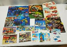 Lot Lego Instruction Manual Knight Pirate Robot Space Police Car Truck Aquazone