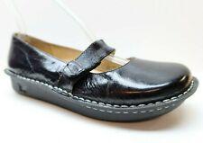Alegria Women's 41 10 Black Patent Leather Mary Jane Platform Wedge Heels Shoes