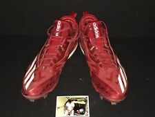 Tim Anderson Chicago White Sox Signed 2017 Game Used Cleats Adidas Sunday Red 1A