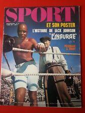 1971 SPORT et son poster n°9 JACK JOHNSON PELE BARDOT TOUR  DES FLANDRES BOCA